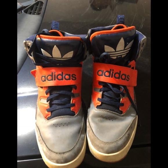 Le adidas Uomo arancione e blu poshmark sz 115